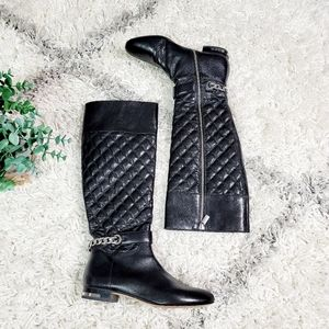Michael Kors Ramsey quilted ankle chain boots